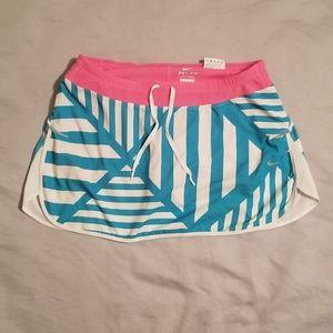 Nike Dri Fit Striped Skirt Shorts Medium